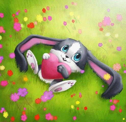 Я тебя люблю открытка заяц, днем работника